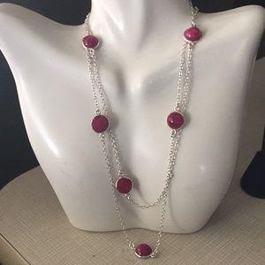 Jewelry - New Item Ruby quartz long necklace
